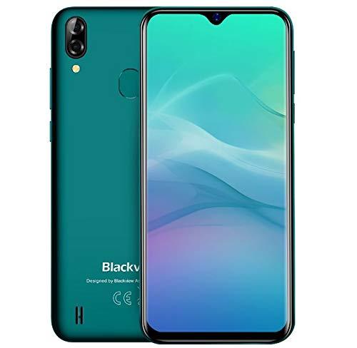 """(2019) Blackview A60 pro Android 9.0 4G Handy Ohne Vertrag, 6,1\"""" Wassertropfen Bildschirm Dual-SIM Smartphone, Helio A22 Quad-Core 2,0 GHz 3 GB + 16 GB, 4080 mAh Akku, Gesichtsentsperrung- Grün"""