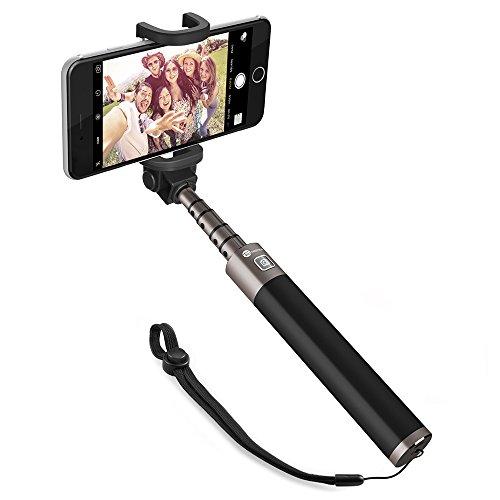 TaoTronics Selfie Stick Selfie Stange Stab Monopod Bluetooth 30 Stunden lang einsetzbar aus Alu Stabiler Fließender für iPhone 6 6s Samsung Sony Smartphones