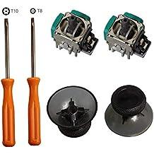 Timorn 2pcs reemplazo Thumbsticks Joysticks Swap y 2pcs Controlador inalámbrico Rocker con T8 T10 Torx Destornillador Repair Kits Partes para Xbox One Controller