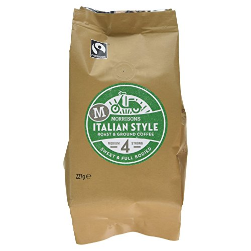 Morrisons Fairtrade Italian Style Roast and Ground Coffee, 227g 416ci3Gyu9L