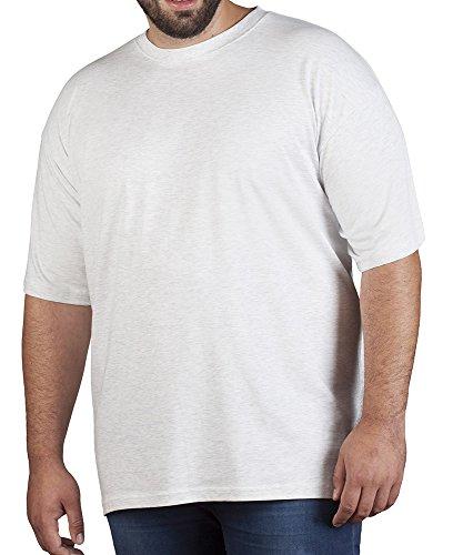 Premium T-Shirt Plus Size Herren, 5XL, Hellgrau-Melange (Hellgrau T-shirt)