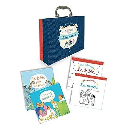 Ma petite valise pour aller à la messe : 4 volumes : Mon petit missel ; La Bible pour les petits ; Mes coloriages la Bible ; Mes coloriages la messe