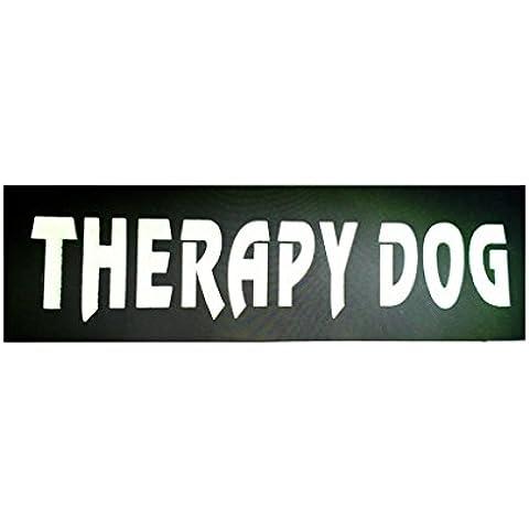 Riflettente Cane Di Servizio Patch Di Banda Cane Da Compagnia Label Id Distintivo Tag Cablaggio - THERAPY DOG