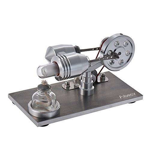 Aibecy - Mini generador eólico luz LED motor Stirling