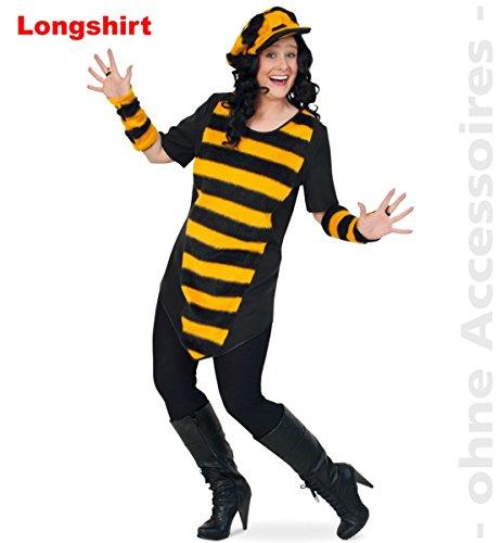 FRIES Plus Size Damen Kostüm Biene Longshirt Karneval Fasching ()