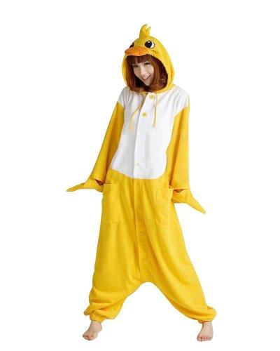 Keral Kigurumi Pijamas Adulto Anime Cosplay de Halloween Traje Outfit Pato Large