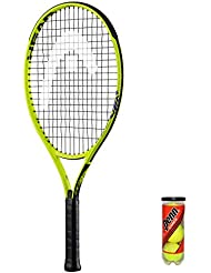 """HEAD Extreme Junior Tennisschläger + 3 Balls and Protective Cover (Sizes 19""""-26"""")"""