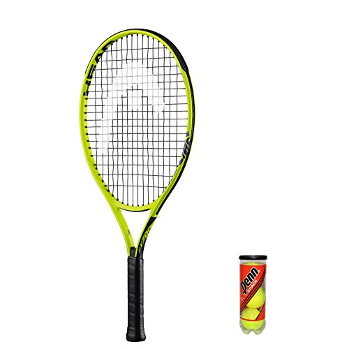 Tennisschläger + 3 Balls and Protective Cover (Sizes 19