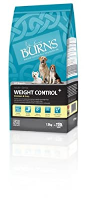 Burns Dog Food Weight Control for Overweight or Diabetic Adult Dogs 15 kg by Su-Bridge Pet Supplies Ltd