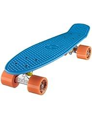 "Ridge Retro Cruiser 22"" - Skateboard, color azul / naranja, 58 cm"