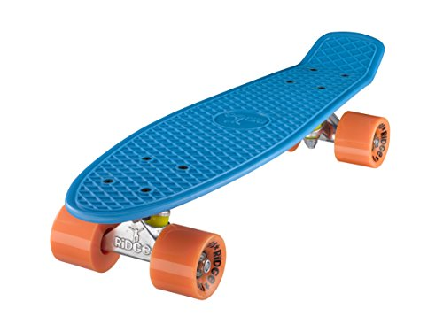 Ridge Skateboard Mini Cruiser, blau-orange, 22 Zoll, R22