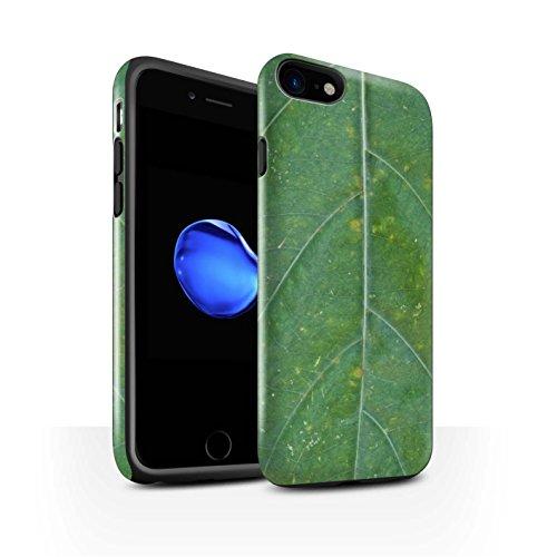 STUFF4 Glanz Harten Stoßfest Hülle / Case für Apple iPhone 8 / Vene Muster / Pflanzen/Blätter Kollektion Frühjahr/Grün