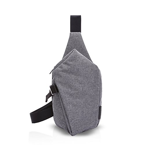 FANDARE Sling Bag Rucksack Umhängetasche Brusttasche Messenger Bag Schultertasche Reisen Wandern Daypack Crossbody Bag Chest Pack Outdoor Sports Reisetasche Polyester Grau