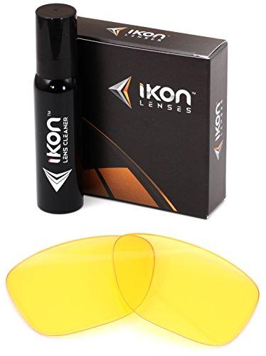 Polarisierte IKON Ersatzgläser für von Zipper Panzer Sonnenbrille - 12 Farben, Herren, HD Yellow