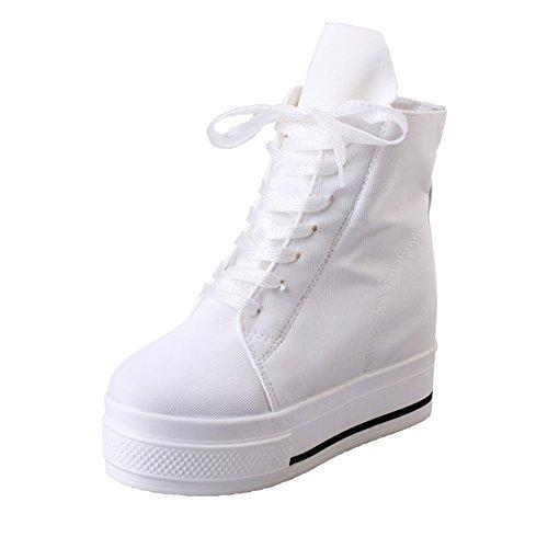 Scarpe Casual Ladies,Versione Coreana Centinaia Di Studenti Fan Shoes Gao,Alto-aumento Scarpe Bianche Nella Torta Di Pino Spessore Fondo A