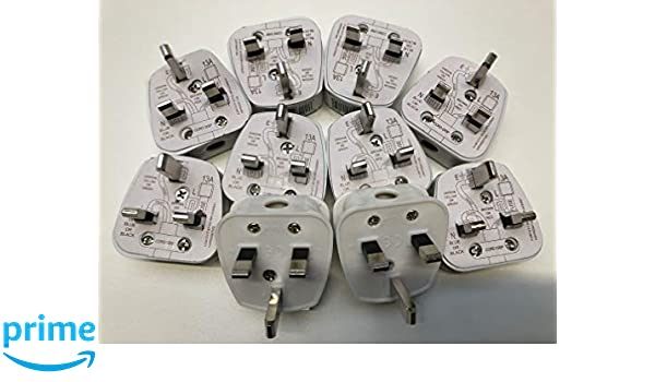 AC Power Plugs & Sockets Complete with Card Showing Wiring Diagram on