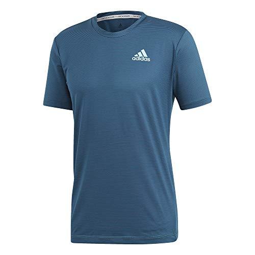 adidas Herren Parley Striped Kurzarm Shirt, Legend Ink/Petrol Night, XXL - Adidas Striped Polo