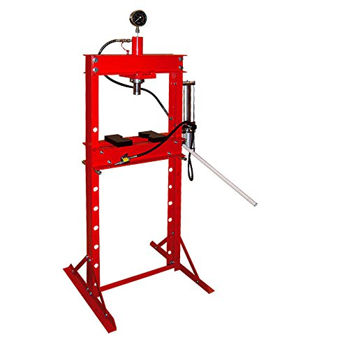 Preisvergleich Produktbild Wimmer Werkstattpresse mit Lufthydraulische Pumpe und mit Manometer 20 T SP20A