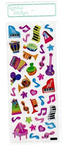 Crystal Stickers - Música Instrumentos colorido tema