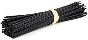 Frandy House - Bastoncini di legno per diffusore di profumo ed essenze, asticelle di ricambio in rattan naturale, dimensioni: 30,5 x 0,31 cm, 30 pezzi, colore: nero