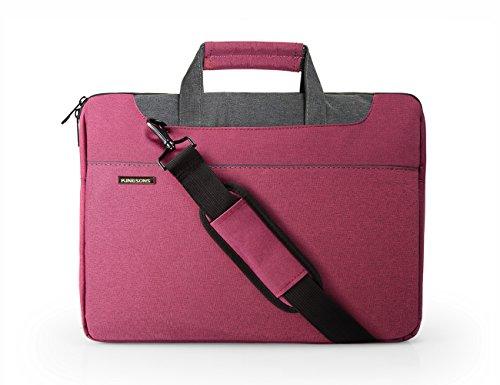 """BAGSMART Sacoche Ordinateur Sac d'Ordinateur Portable Housse pour Tablette Sacoche pour PC Portable 15.6"""" Rose"""