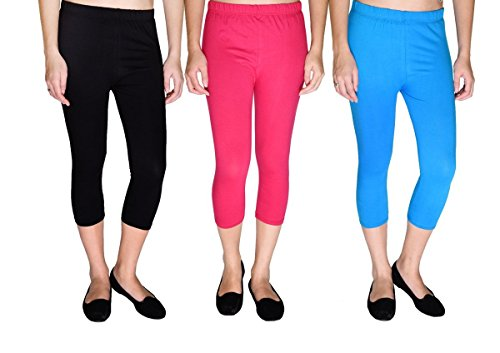 2Day Womens Cotton Legging (2De Cpr Pck3 4.3 _Multi-Coloured _X-Large)