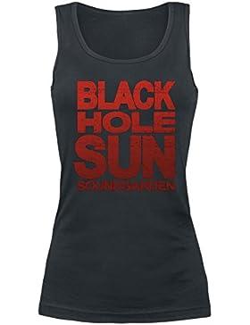 Soundgarden Black Hole Sun Top Mujer Negro