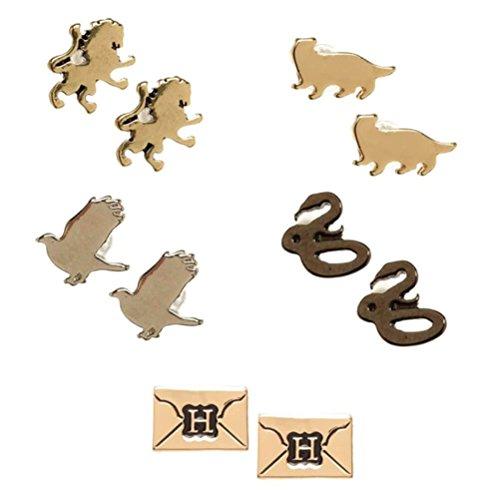 Offizielle Harry Potter Hogwarts Symbole Annahme Brief Ohrringe Set - 5 Paar -