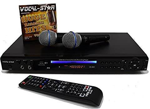 Vocal-Star VS-800 HDMI Multi Format Karaoke Machine with 2 Microphones