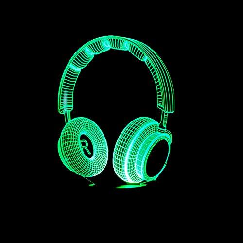 3D Dj Kopfhörer Nachtlicht Studio Musik Monitor Headset Hifi Musik Kopfhörer Led Tischlampe Junge Schlafzimmer Dekor Beste Geschenke