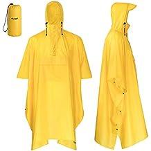 vendita calda online 460fe eb75a impermeabile uomo pioggia - Giallo - Amazon.it