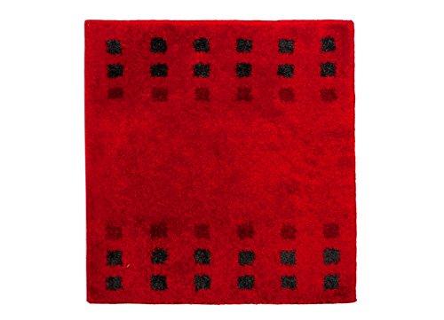 Casilin Brica Tapis de bain Acrylique Rouge 60 x 60 cm