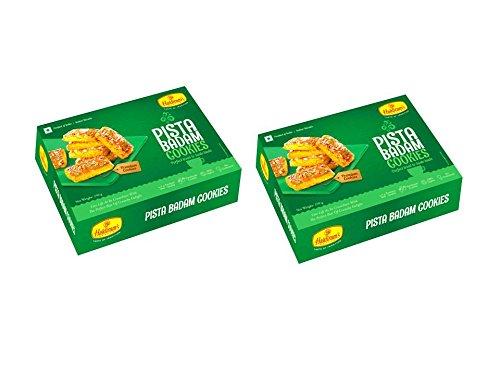 Haldiram's Nagpur Pista Badam Biscuits ( Pack Of 2 ) 416crV9d86L