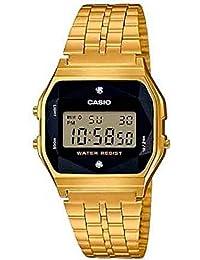 Casio Digital Black Dial Unisex's Watch-A159WGED-1DF (D164)