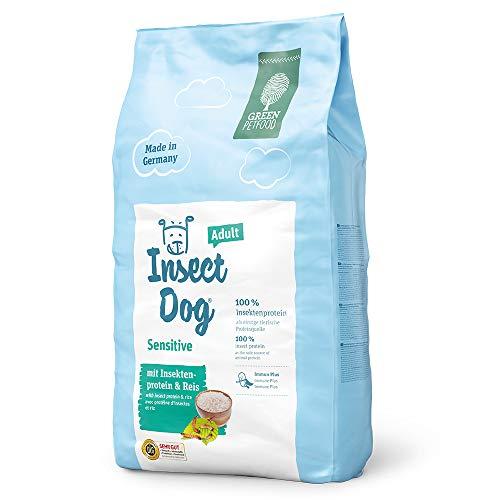 Green Petfood InsectDog Sensitive Adult - mit Insektenprotein & Reis / leicht verdauliches Alleinfuttermittel - 10 kg Hundefutter trocken