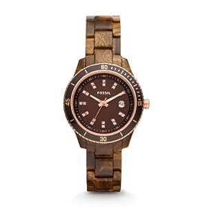 Fossil Damen-Armbanduhr XS Stella Analog Plastik ES3092