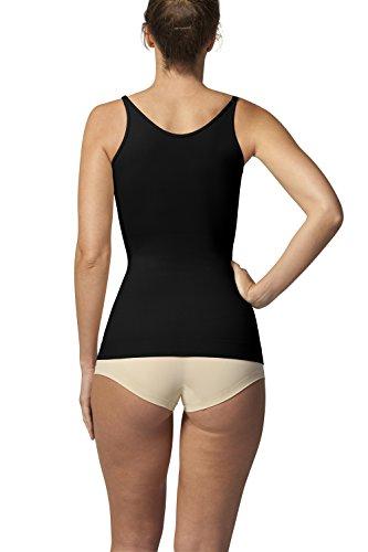 Sleex Figurformendes Damen Unterhemd - Underbust (Tragen Sie Ihren BH) (44044) Schwarz (Black)
