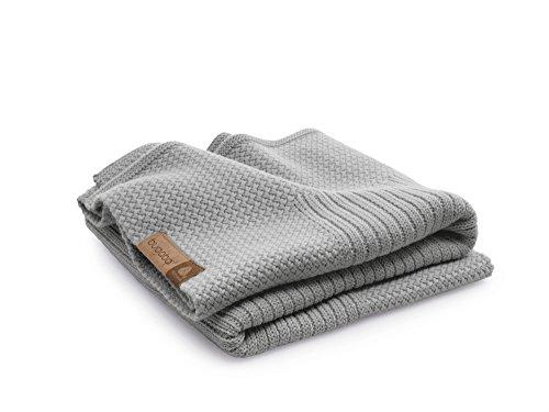 Bugaboo - Manta de lana suave (mezcla de color gris claro)