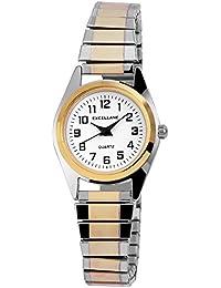 Excellanc llanc Mujer Cordón Reloj Reloj de pulsera metal Cordón bicolor