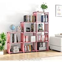 Snazzy Foldable Metal Open Bookcase, Book Shelf, Book Rack Book Racks for Home ( Baby Pink)