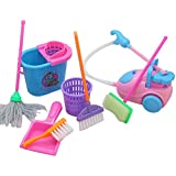 TOYMYTOY Mini Simulation Home Cleaning Tools Playset For Barbie Doll House (Random Color)