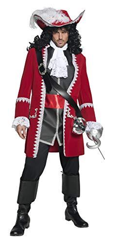 Smiffys Costume de capitaine pirate authentique, avec veste, pantalon, haut avec ceintur