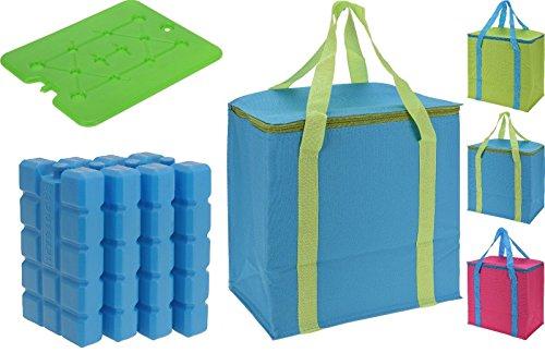 Kühltasche Picknick 20L Camping, und von Eis Block Backstein-mit 4400g Kernseife Eis grün
