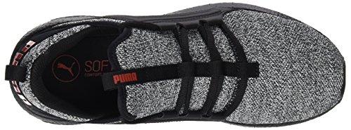 Puma Mega Nrgy Knit, Chaussures de Cross Homme Noir (Puma Black-white-flame Scarlet)