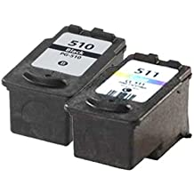 UCI 2x Compatibles PG-510 (PG-512) CL-511 (CL-513) Cartouches d'encre pour Canon Pixma iP2700, iP2702, MP230, MP235, MP240, MP250, MP252, MP260, MP270, MP272, MP280, MP282, MP480, MP490, MP492, MP495, MP499, MX320, MX330, MX340, MX350, MX360, MX410, MX420