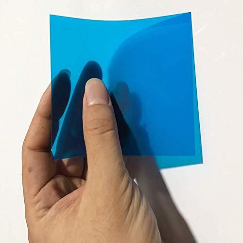 vap26 Gel Blatt 2 STK Gefärbt Durchsichtig Handwerk Beleuchtung Filter Leichtgewicht Schichten PVC Hitzebeständig Multifunktion Dünn Biegbare Kunststoff Folie Künste (Rot) - Blau, Free Size -