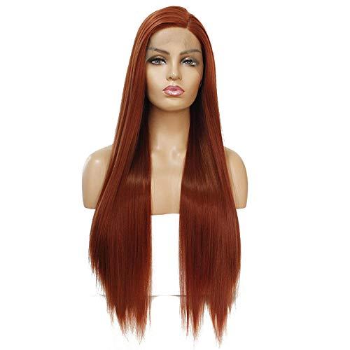 Lockenwicklern Mit Kostüm Perücken - Perücke, Perücke und Haarteile für Erwachsene, glattes Haar, Chemiefaser, vorne, Lace-Perücke, Kopfbedeckung