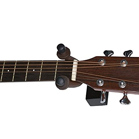 Guitare en bois porte Cintre à fixation murale, Tankerstreet Home et studio support de guitare Crochets pour support mural pour vers plusieurs guitares, banjo et Ukulélé–comme indiqué