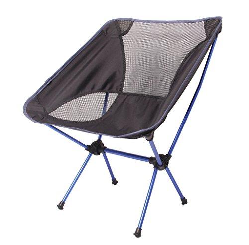 KORAMAN Tragbares Kompakt Hochbelastbarer Klappstuhl für Strand Picknick Camping Wandern Angeln, Herren, blau (Picknick Strand-klappstuhl)