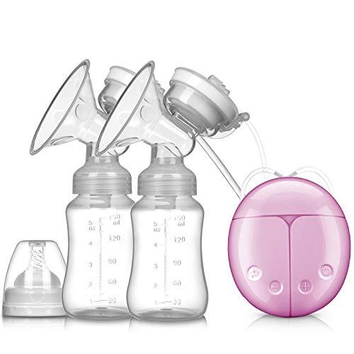 DIVAND Pompe à Seins électrique bilatérale, Machine de pompage de Sein, Massage d'aspiration, Pompe de Sein de Postpartum,Pink